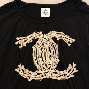 Unif Bones tee xs